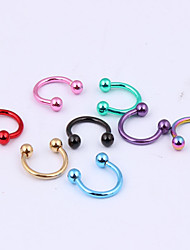 Body Piercing Jewellery Fashion Stainless Steel Earrings Nose Lip Ring Body Jewelry Piercing(Random Color) Christmas Gifts