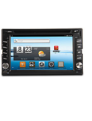 6.2 polegadas TFT 2 din carro dvd player in-dash com Bluetooth, GPS de navegação-pronto, ipod-entrada, RDS, wi-fi, tv