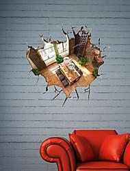 Decalques de parede adesivos de parede 3d, sala de parede do banheiro decoração mural pvc adesivos