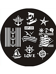 Nail Art Stamp Stamping Image Template Plate AP Series NO.31