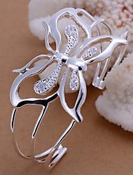 borboleta moda pulseira de prata de cobre com 14 centímetros de mulheres (prata) (1 pc)