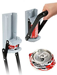 Beer Soda Pop Can Crusher Bottle Opener Wall Mount Cans Recycling Bars Kitchen (Random Color)32*11*8 cm