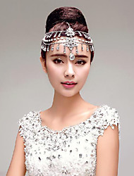 Gorgeous Rhinestones Wedding/Party Headpieces with Imitation Pearls