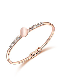QuanNa Brand Fahion 18K Rose Gold/Platinum Plated Ladies'  Austrian Crystal Opal Roll Bracelet