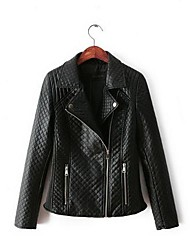 Women's Casual Korean Motorcycle PU Leather Jacket