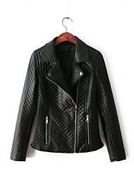 Women's Casual Korean Motorcycle PU Leather Jacket