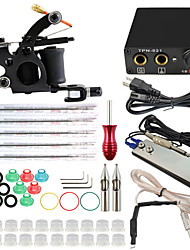 ITATOO™ Tattoo Kit 1pcs Tattoo Machine Mini Tattoo Power Supply Set with ITATOO™ Tattoo Needles
