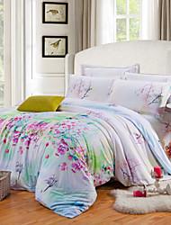 noble literie de tencel définit couette de luxe situé drap de lit housse de couette couvre-lit feuille plate taie