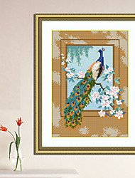 Peacock Hobbies and Crafts Chinese Style Series Diamond Cross Stitch Needlework Wall Home Decor 28*36cm