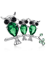 Women's Alloy Brooches & Pins With Crystal
