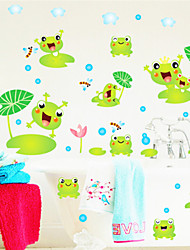stickers muraux stickers muraux, bande dessinée grenouille pvc stickers muraux