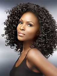 14-26Inch Brazilian Virgin Hair Kinky Curly Natural Color Human Hair Lace Front Wig& Full Lace Wigs