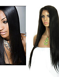 Women Brazilian Virgin Hair Color(#1 #1B #2 #4) Straight Hair Lace Front Wigs