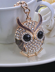 Fashion Trend of The Rhinestone Owl Keychain