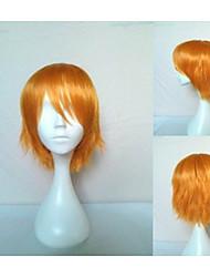 cosplay peluca de los hombres populares rubia pequeña recta pelucas de pelo sintético peluca del partido freeshipping