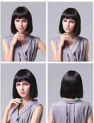 2015 Celebrity Wig Machine Made Short Wig Human Hair None Lace Brazilian Hair Straight