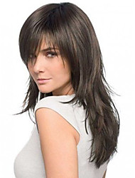 16inch Straight Brazilian Human Hair Natural Color Full Lace Wig