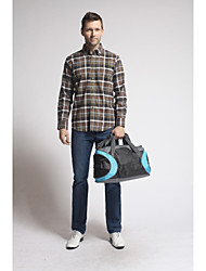 U&Shark New Hot! Men's Sanded 100% Cotton Leisure Flannel Long Sleeve Shirt with Brown Black Check/QFL010
