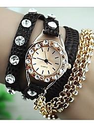 soha superstar multi-couche d'enroulement avec une montre bracelet de diamant