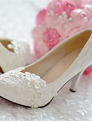 Dames Bruiloft Schoenen Hoge hakken/Gepunte neus hoge hakken Huwelijk/Feesten & Uitgaan Wit