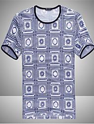 NETS мужская блокировки печатных короткий рукав рубашки