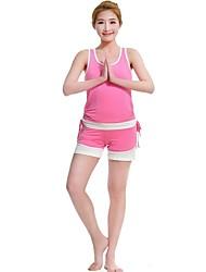 Mujer Yoga Trajes Sin Mangas Secado rápido / Antiestático / Capilaridad / Antibacteriano Rosa Yoga S / M / L / XL