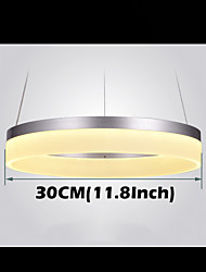 Round LED Pendant Light Modern Acrylic Lamps Lighting Luxurious Single Ring D30CM Ceiling Lights Fixtures