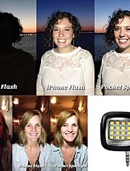 16led mini-noite poderoso portátil usando selfie reforço flash LED de luz para ios / android / wp8.0 / selfie / camera