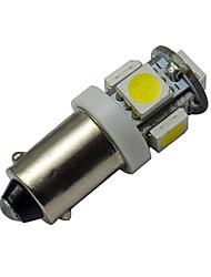 BA9S Lampe de Décoration 5 SMD 5050 70-100lm lm Blanc Froid DC 12 V 6 pièces
