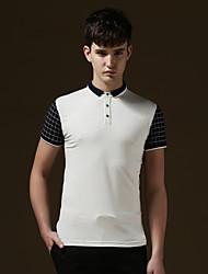 Men's Casual/Work/Sport/Plus Sizes Pure Short Sleeve Regular Polo T shirt(Cotton)