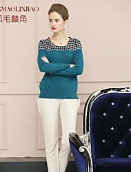 Women's Vintage/Work Long Sleeve Cashmere (Cashmere)