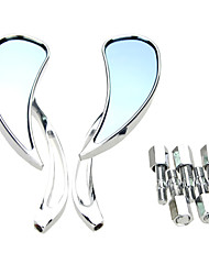 2X Universal Motorcycle Cruiser Side Rear View Mirrors 8mm 10mm For Honda