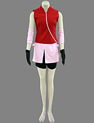 Inspired by Naruto Sakura Haruno Video Game Cosplay Costumes Cosplay Suits Patchwork Red Coat / Skirt / Shorts / Sleeve / Gloves