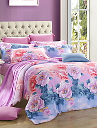 100% Tencel Activity Four Piece Bedding Set Quilt Bed Linen Cover Quilt Duvet Cover Flat Sheet Pillowcase