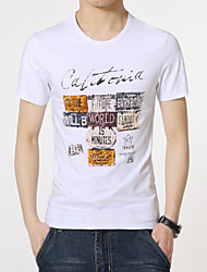 Men's Round Neck Casual Print Short Sleeve T-Shirts