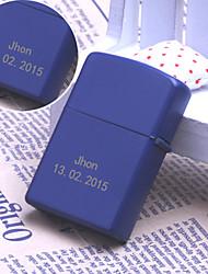 Gepersonaliseerde Gift - Blauw - Metaal - Stijlvol - Enkele Vlam - Vuursteen