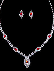 Alloy Wedding/Party Jewelry Set With Diamond/Rhinestone