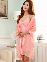 Women Polyester/Satin/Silk/Ice Silk Babydoll & Slips/Robes/Satin & Silk/Ultra Sexy/Suits Nightwear