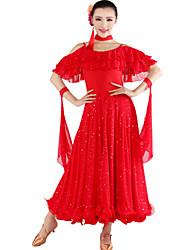 Ropa de Gimnasia/Vestidos ( Verde manzana/Negro/Azul/Rojo , Fibra de Leche , Danza Moderna ) - Danza Moderna - para Mujer