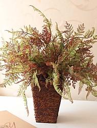 "15.7"" The Autumn Artificial Bunchy Plant Asparagus Fern Set of 2"