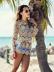Women's Sexy/Beach Micro Elastic Above Knee Dress (Lace)