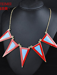 Korean version of the latest vintage trinkets drip gilded triangle wave long thin chain necklace