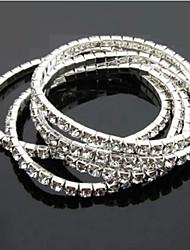 Lucky Star Women's Elegant Rhinestone Thin Bracelet