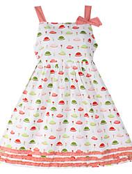 Vestido Chica de - Verano/Primavera - Algodón - Sin Mangas