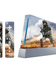 couverture autocollant de protection autocollant de la console Wii de la peau du contrôleur de la peau