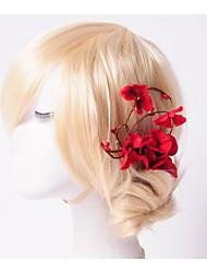 Women's/Flower Girl's Basketwork Headpiece - Wedding/Special Occasion/Outdoor Hair Combs/Flowers 1 Piece