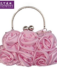 AIKEWEILI®Women's Bags Silk Flower Type Wedding Party Bags Fashion Totes Bride Package Evening Clutch Bag