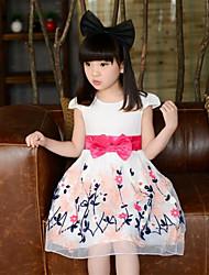 Vestido Chica de Algodón - Manga Corta