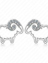 Women' Sterling Silver Earrings with Zircon CZ0002E