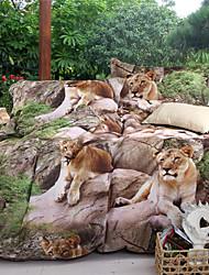 tigres Mingjie cinza conjuntos de cama 6d 4pcs queen size e roupa de cama de tamanho completo china conjuntos de cobertura Duvert
